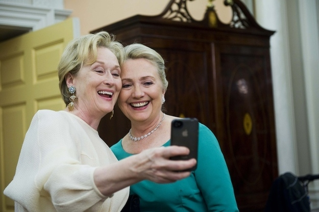 Meryl Sleep et Hilary Clinton