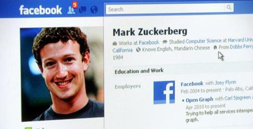 Facebook de Mark Zuckerberg