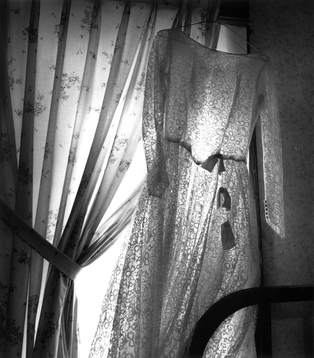 Wedding dress, Herchenbach place, Cass County, Iowa, 2007.
