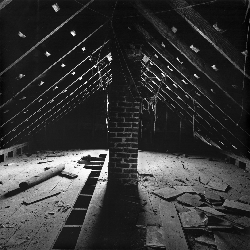 Attic, Kroeger place, Cuming County, Nebraska, 2005.