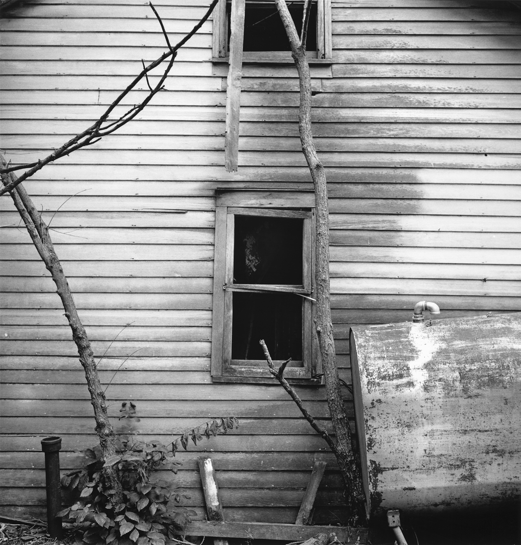 Back wall, Weber place, Cass County, Iowa, 2003.