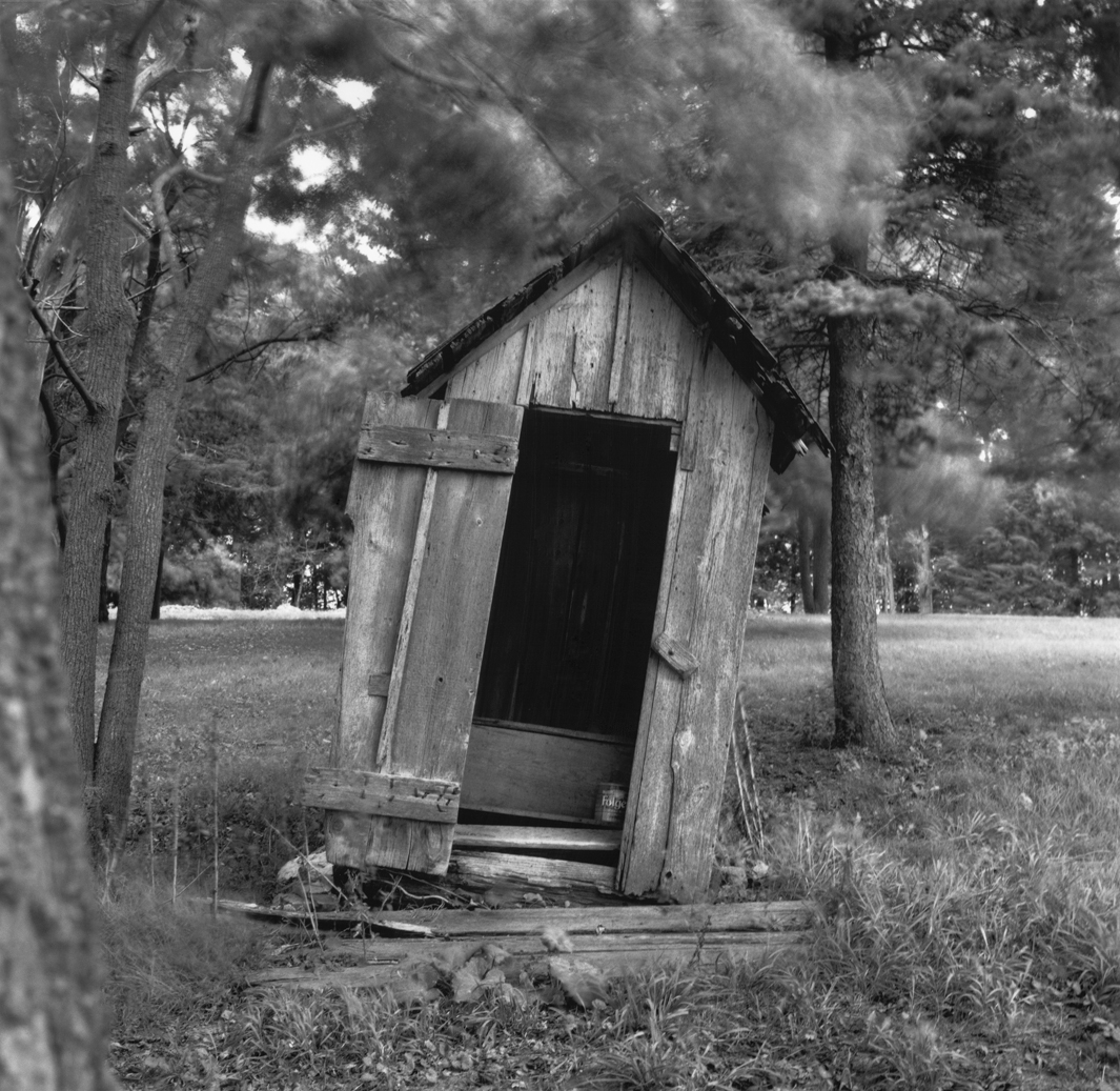 Outhouse, Herchenbach place, Cass County, Iowa, 2004.