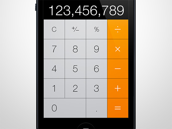 calculatrice-ios7