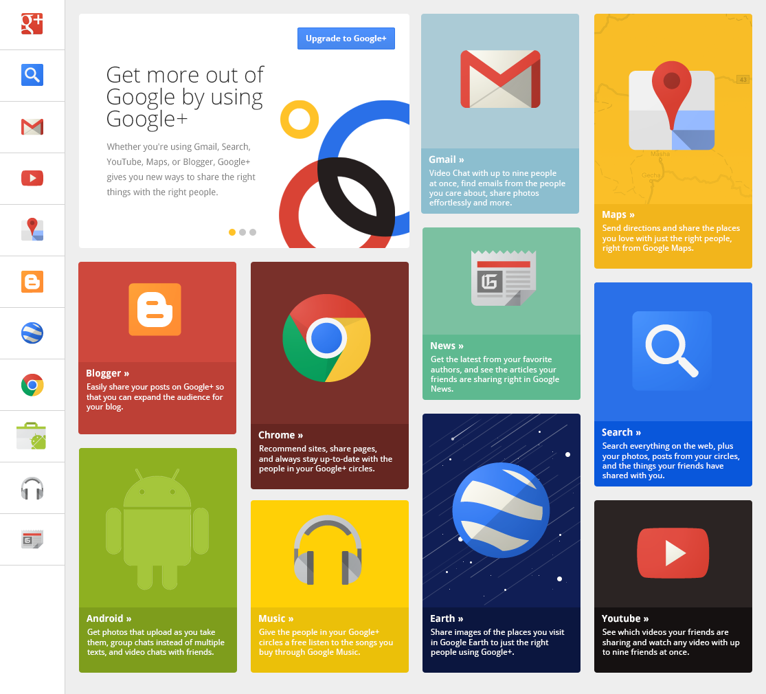Flat design exemple google
