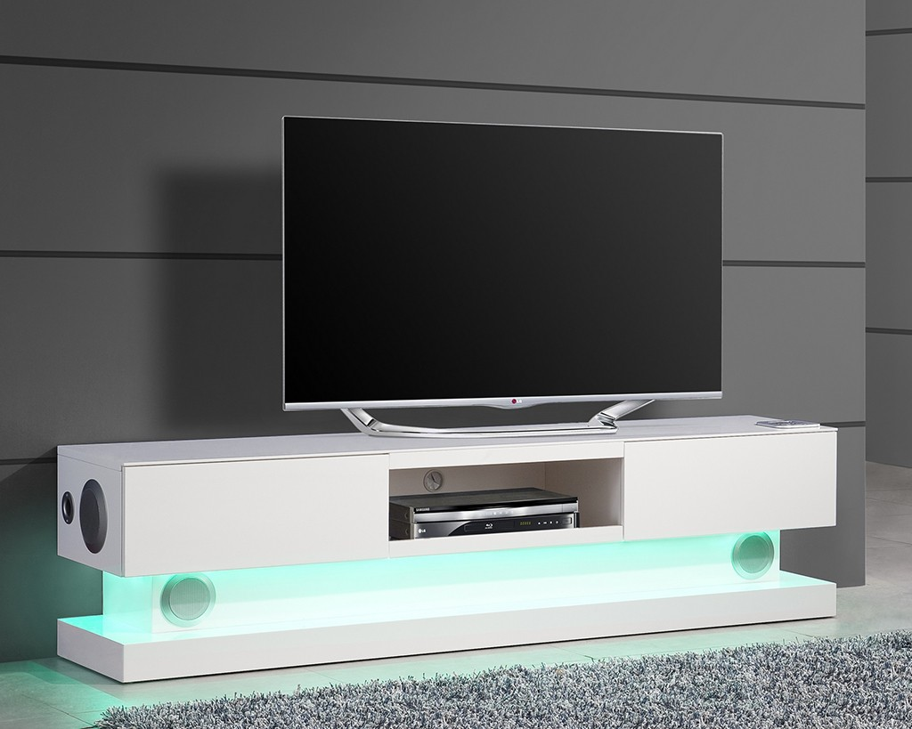Meuble connect quand le design rejoint la technologie for Meuble tele en verre design