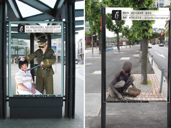 Amnesty international street marketing
