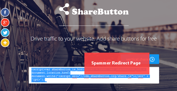 Arrêter le spam des sites free-share buttons