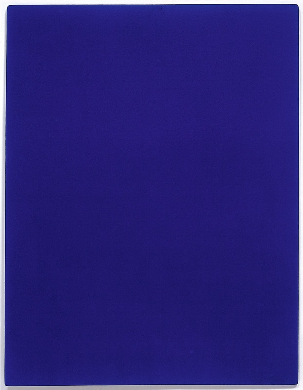 yves klein et le bleu ikb. Black Bedroom Furniture Sets. Home Design Ideas
