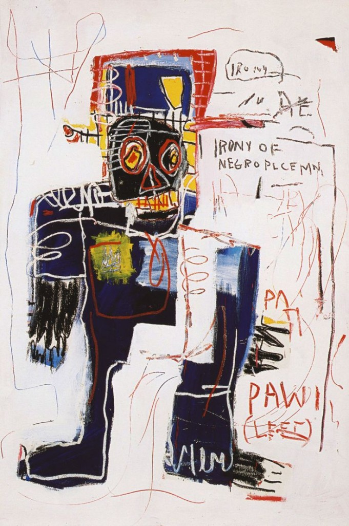 Irony of Negro policeman Basquiat