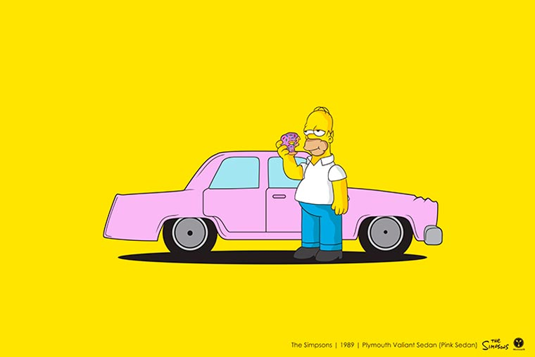 Cinema driver véhicule pop culture simpsons
