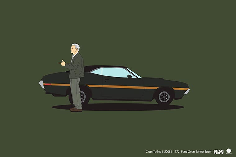 Cinema driver véhicule pop culture gran torino