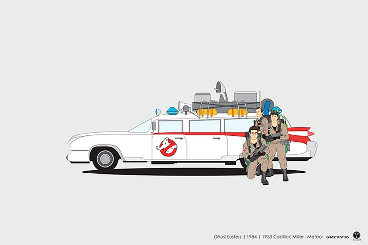 Cinema driver véhicule pop culture ghostbuster