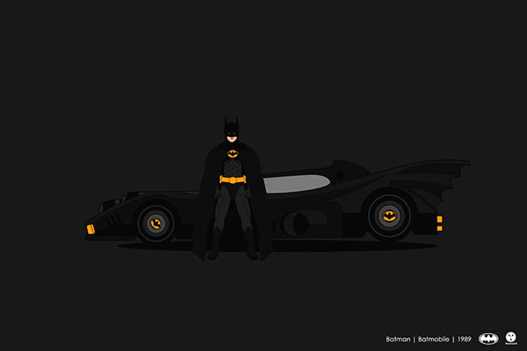 Cinema driver véhicule pop culture batman