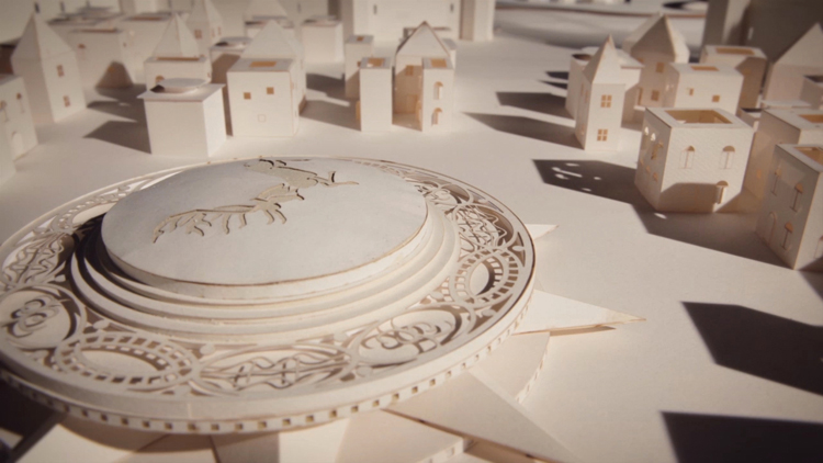 Le générique de Game of Thrones en paper art
