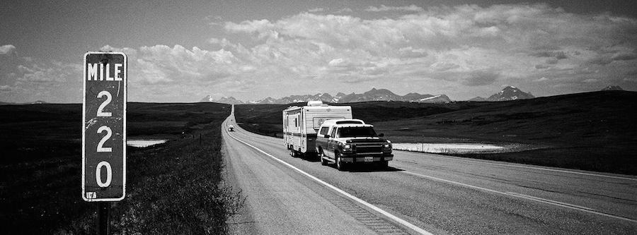 road trip usa monochrome