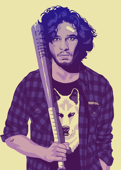 Game of thrones années 90 - Jon Snow