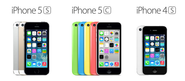 Comparatif iPhone 4S, iPhone 5C et iPhone 5S