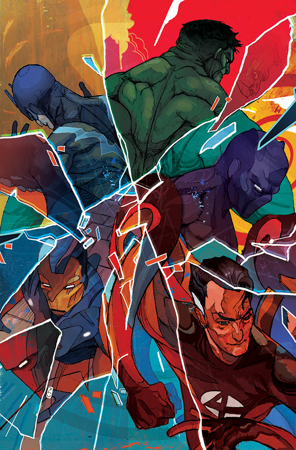 Couverture comic marvel