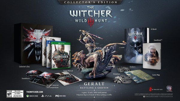 Edition collector de The Witcher 3 wild Hunt