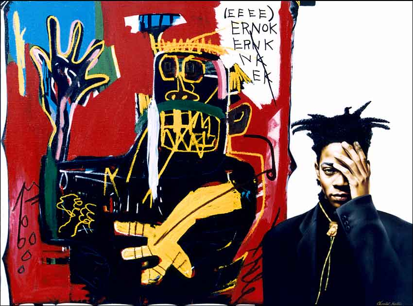 Jean-Michel Basquiat portrait photographie