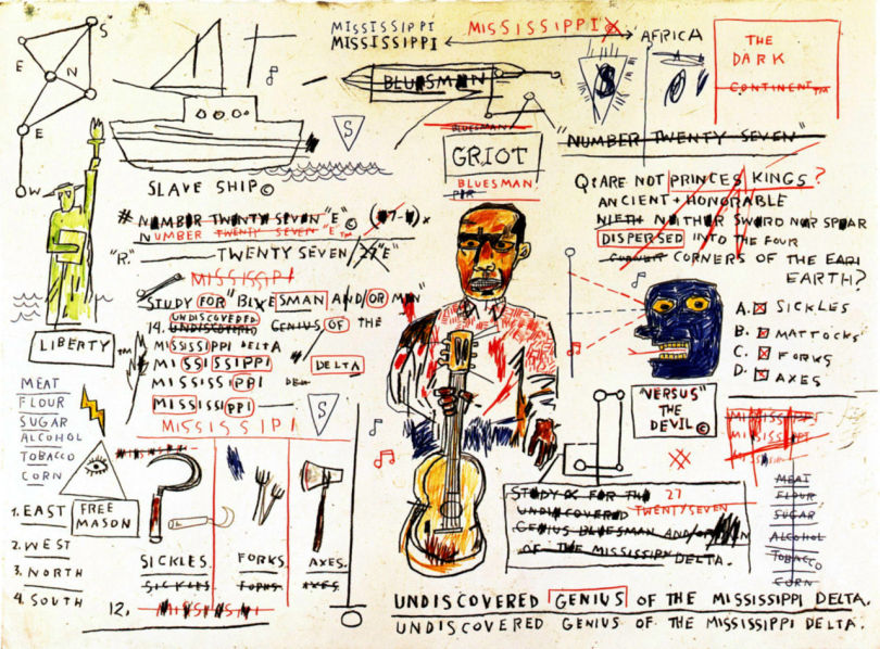 Undiscovered genius mississippi peinture jean-Michel Basquiat