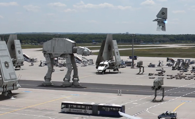 Star Wars envahit l'aéroport de francfort