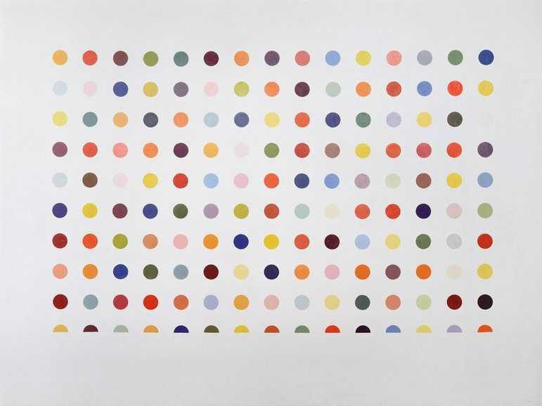Damien Hirst spot painting