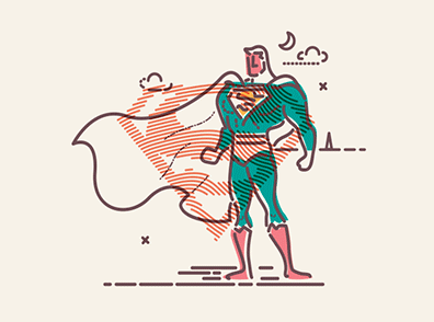 superman motion design