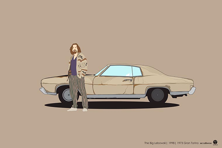 Cinema driver véhicule pop culture big lebowski
