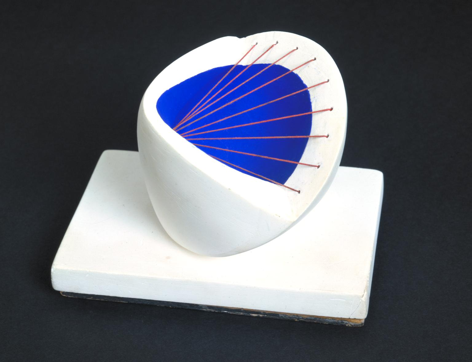 barbara hepworth Sculpture with Colour (Deep Blue and Red)
